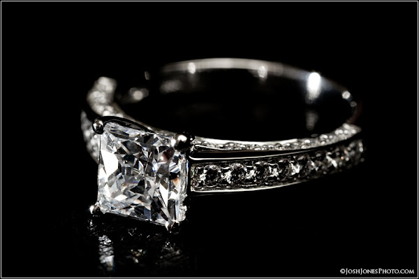 Expensive Diamond Engagement Ring Photo shoot