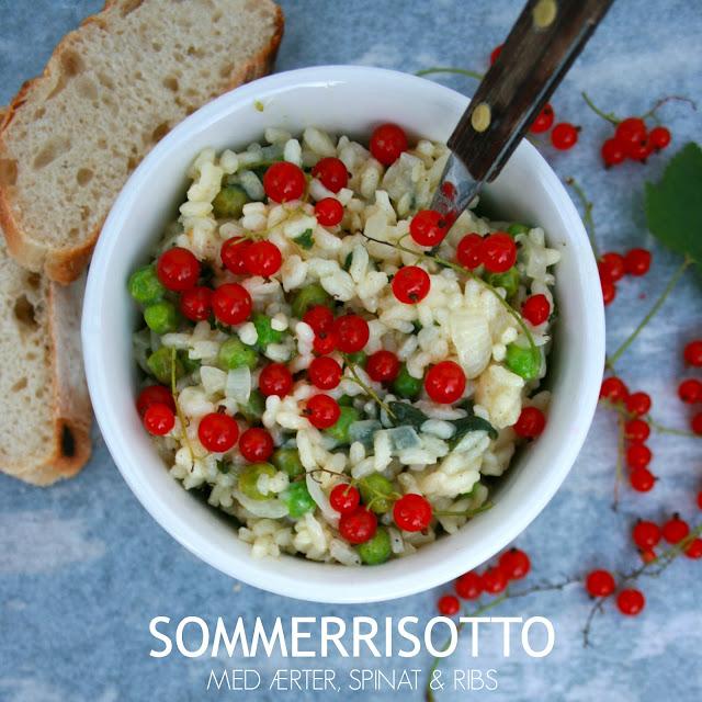 Cremet sommerrisotto med ærter, spinat og ribs - Mit livs kogebog