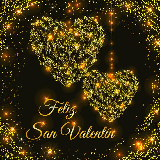 Feliz San Valentín Luminoso - vector