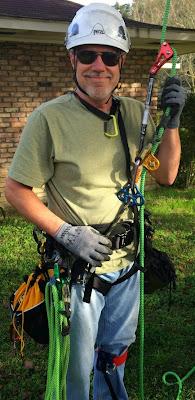 Randall in climbing gear