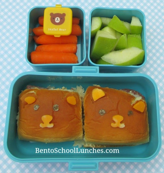Dinner rolls bear, bento school lunch, Monbento Tresor