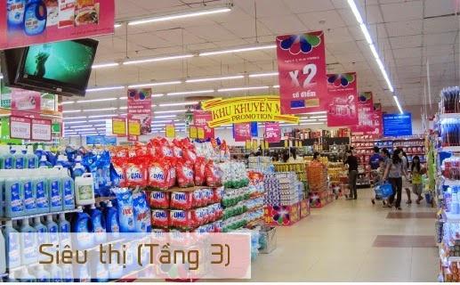 Siêu thị mua sắm trên tầng 3