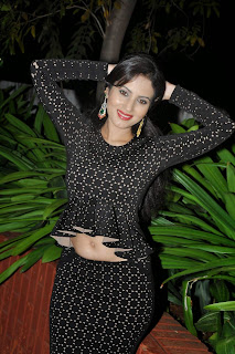 Anu Smrithi in Black TIght Dress at Heroine Movie Audio Launch
