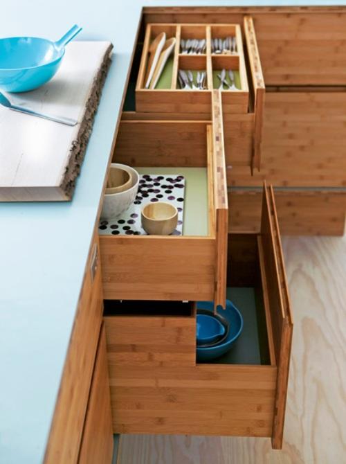 Design interior minimalis: diseño de mueble funcional de bambú ...