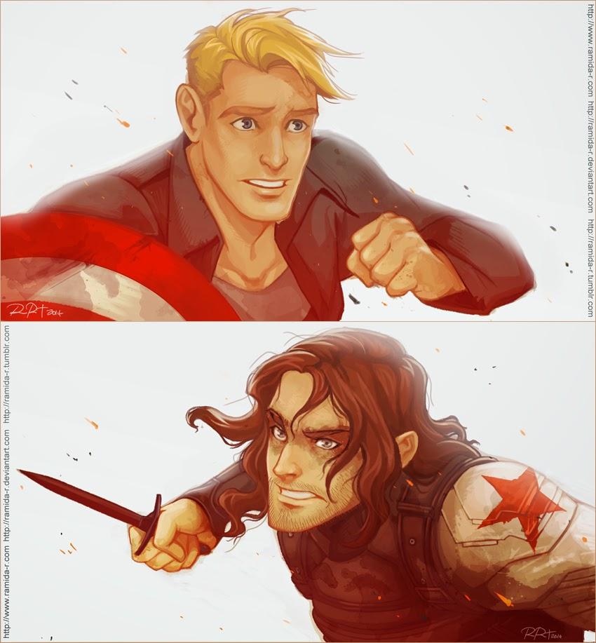 Captain America: The Winter Soldier Fan Art By Ramida R.