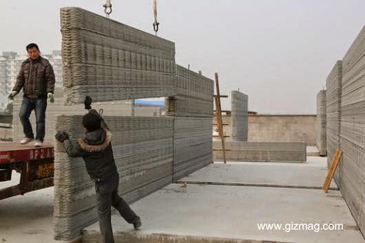 Bloques de impresión 3D en concreto en China para edificar casas