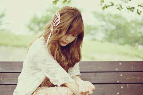 beautiful weather but sad girl alone