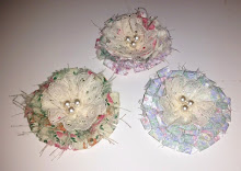 SHABBY CHIC FLORAL FABRIC FLOWERS