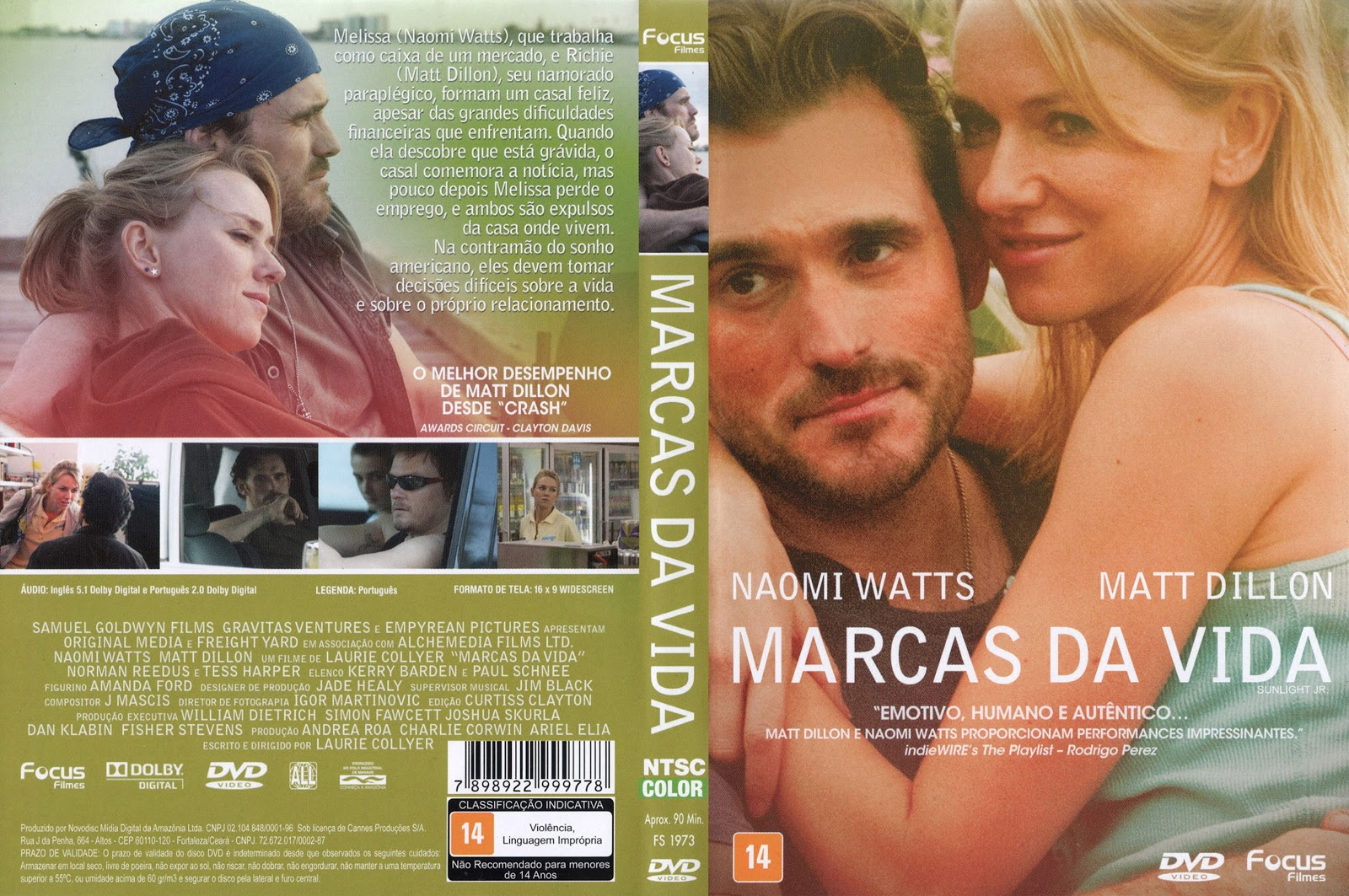 Capa DVD Marcas Da Vida