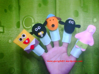 boneka jari shaun the sheep spongebob patrick