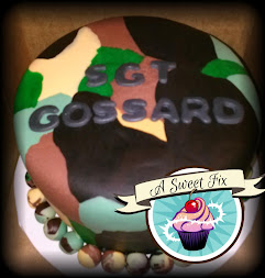 Sgt. Gossard Camo Cake - cake batter is camo too