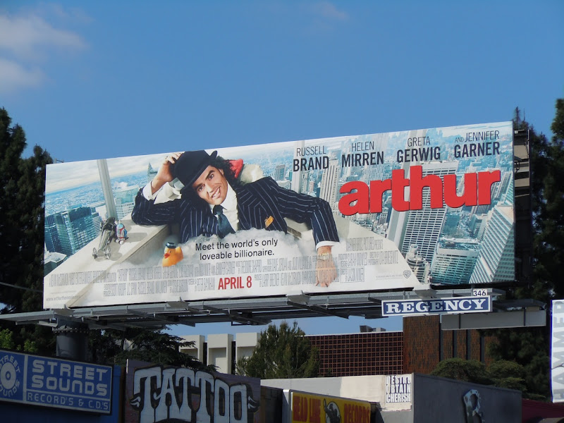 Arthur remake bathtub billboard