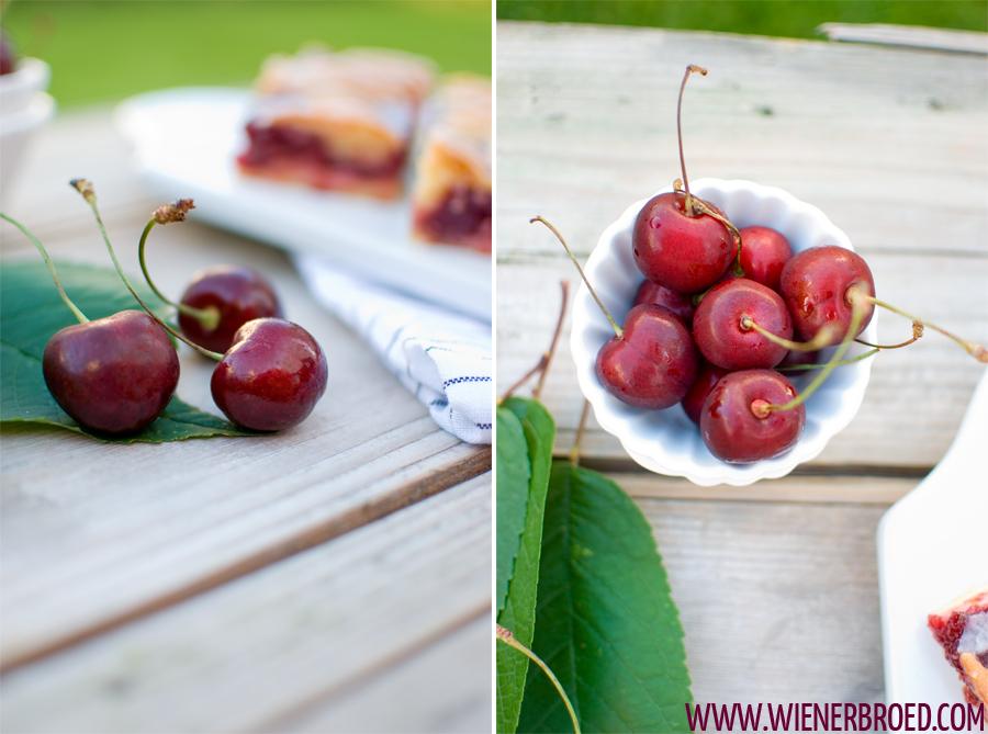 Kirsch-Käsekuchen-Schnitten / Cherry Cheesecake Bars [wienerbroed.com]