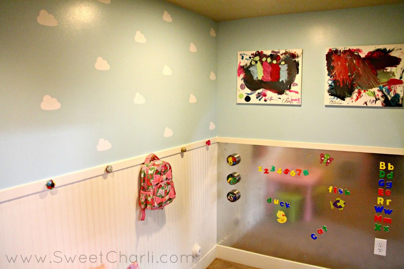 Inside Our Playroom - Vinyl Cloud Walls - Sweet Charli