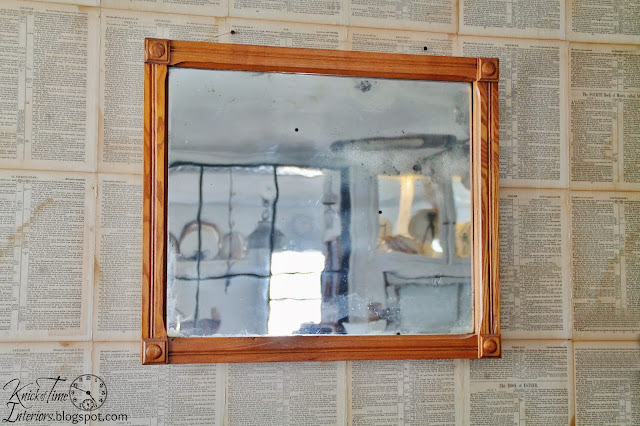 Antique Oak Frame Mirror with wavy glass via Knick of Time