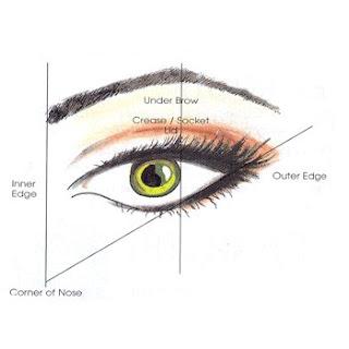 Eye makeup basic scheme