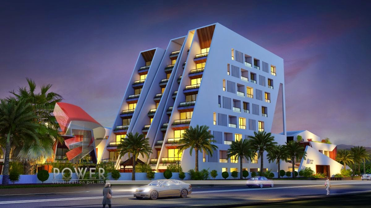 New 3D Rendering Township Apartment Building Design In 3d