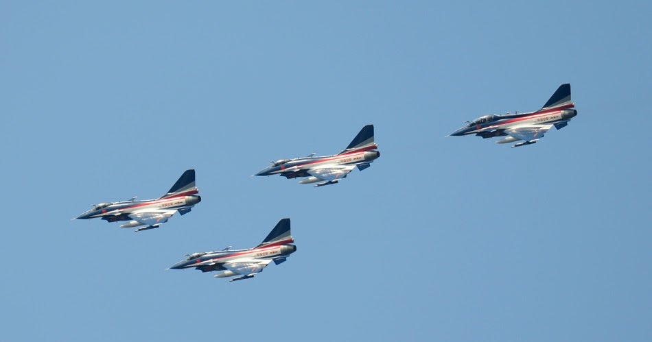 Chinese J10 August 1 Aerobatic Display Team Arrives in ...