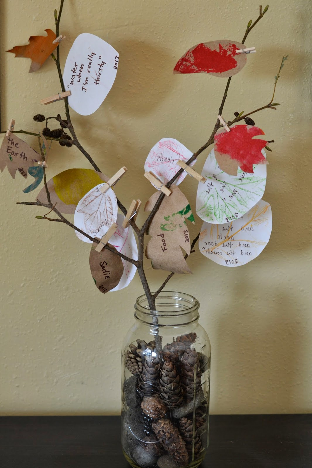 From cup to the thankful tree a kid craft