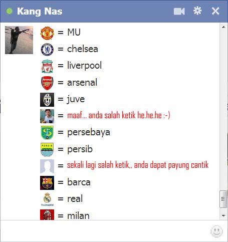 chat fb, triks chat fb, tips chat fb, emotions chat fb, menampilkan logo sepak bola di chat fb, menampilkan ikon sepak bola di chat fb, emoticons chat fb
