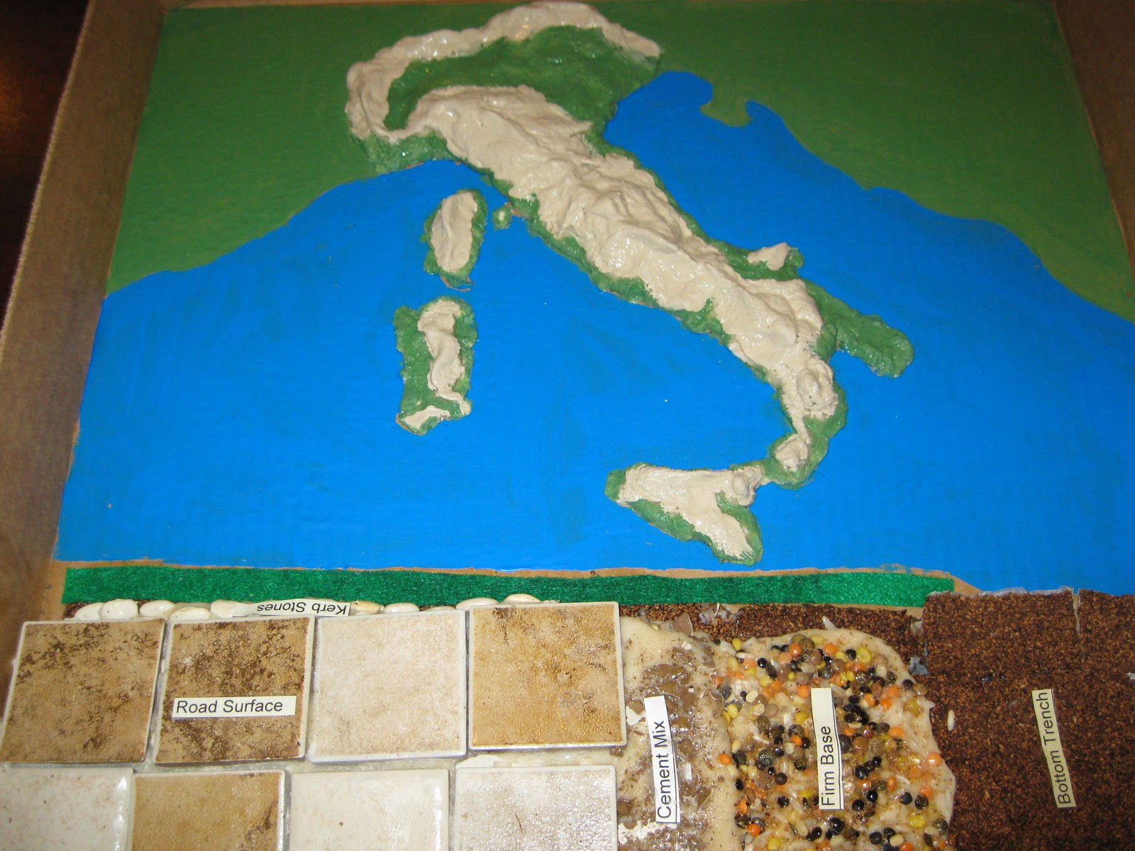 Solagratiamom: Making Roman Roads and Salt Dough Map of Italy - CC ...