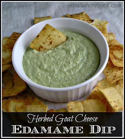Edesia's Notebook: Eating The Alphabet: Herbed Goat Cheese Edamame Dip