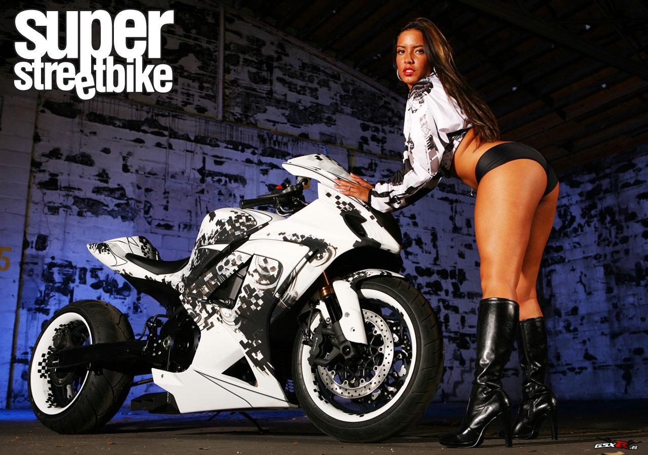 Bmw Mountain View >> Best Wallpapers Zone: Hot Girl and Suzuki GSXR 1000 Wallpaper