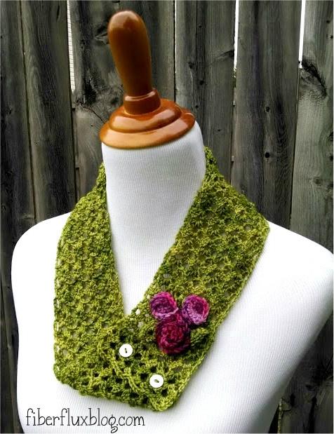 Fiber Flux: Free Crochet Pattern...Vintage Corsage Cowl