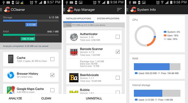 3 Aplikasi Cleaner Android Terbaik - ccleaner
