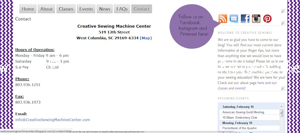 creative sewing machine center