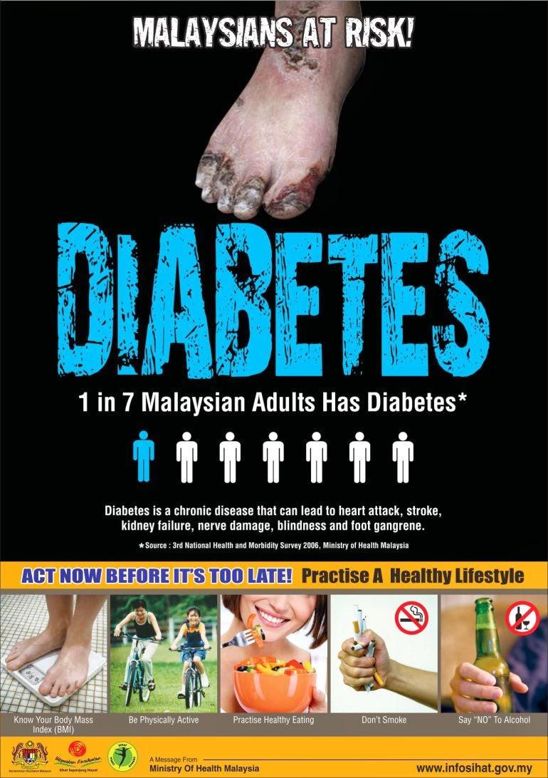 diabetes, komplikasi diabetes, kencing manis, pemeriksaan awal, lewat kesan, pemeriksaa diabetes, kencing manis tak terkawal, saraf rosak, masalah mata,