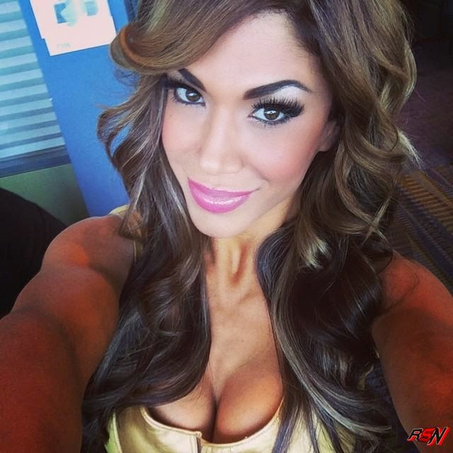 Sexy Selfie of Rosa Mendes and Her Cleavage.