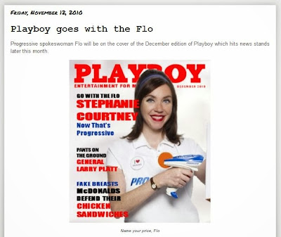Flo in Playboy 3 years on