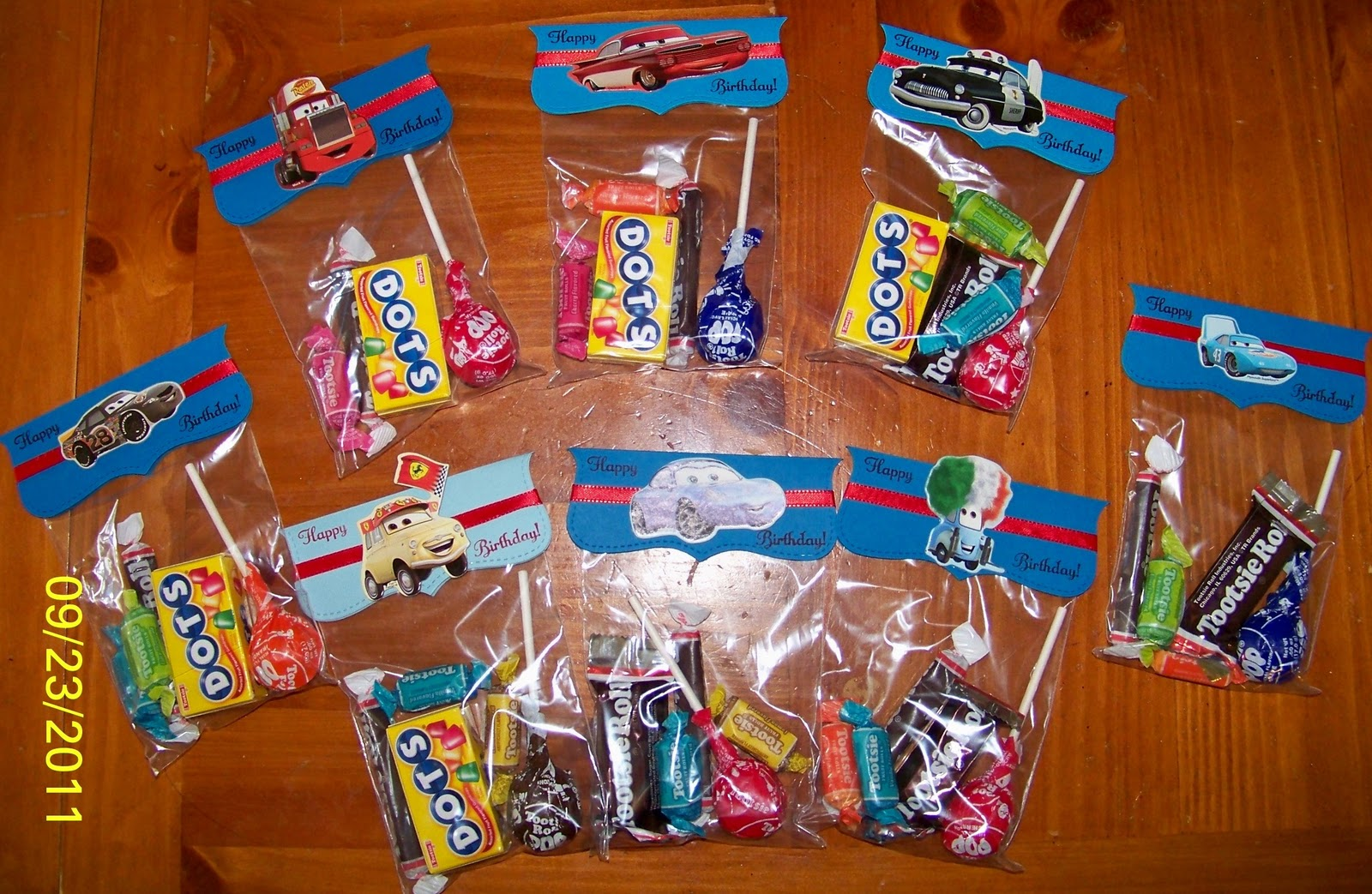 Cars Goody Bags For School
