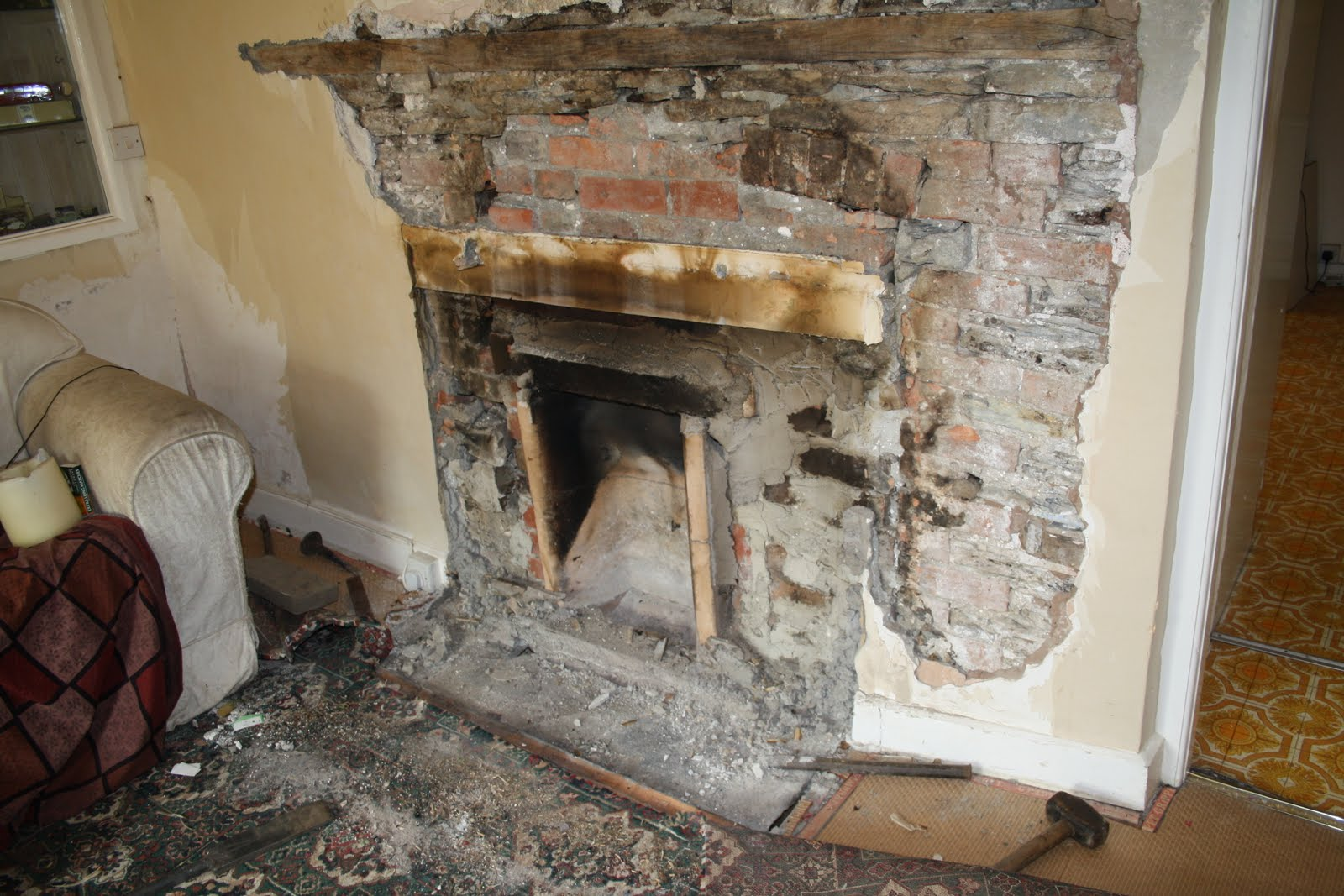 Growing Things and Making Things: Fireplace excavation