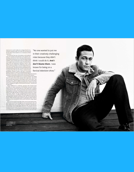 Joseph Gordon-Levitt by Kai Z Feng for OUT Magazine