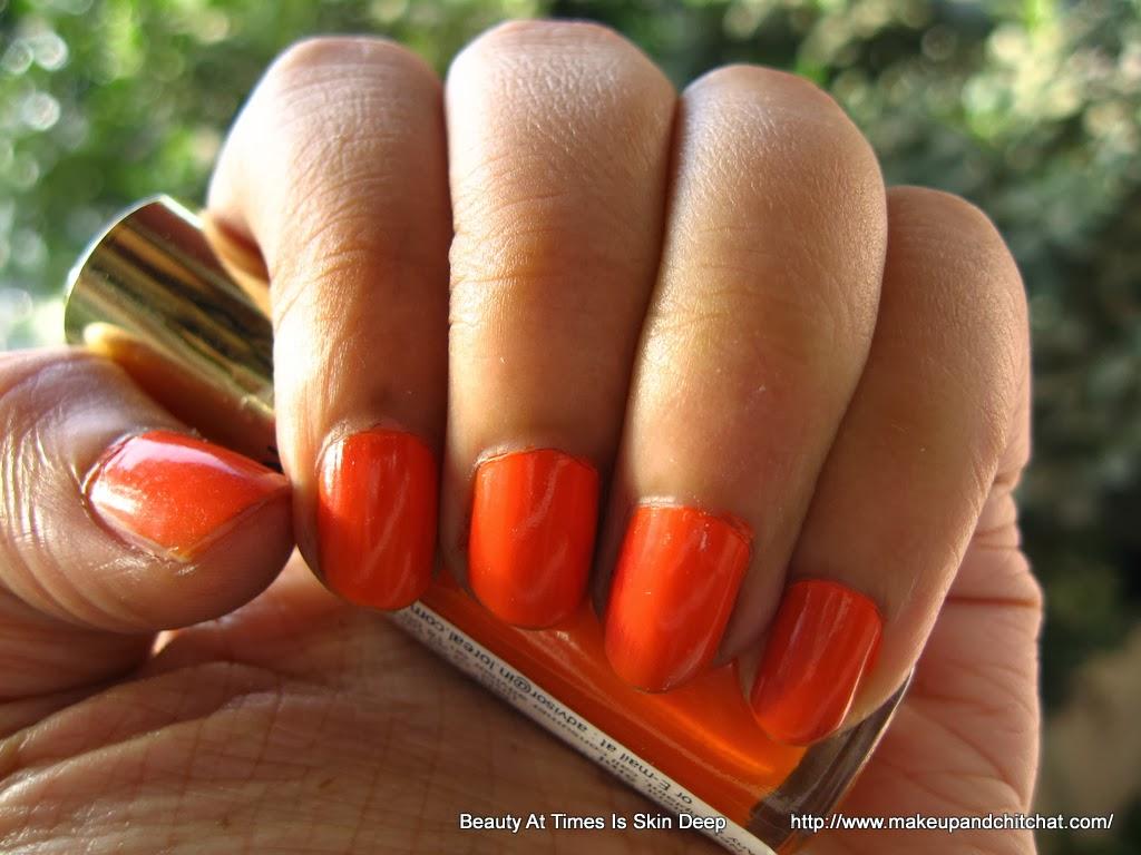 L\'Oreal Nail Polish 303 Lush Tangerine: NOTD