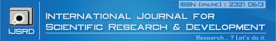 Call for Paper - IJSRD | IMPACT FACTOR: 4.396 | IC Value: 66.68