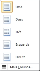 Quantidade de colunas no Word 2010