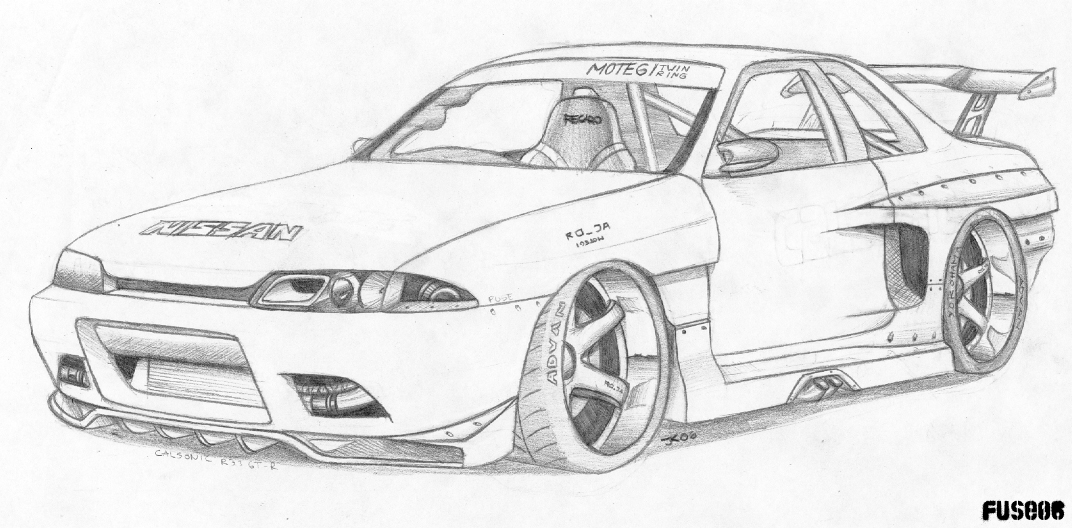 tuning cars  drawed cars