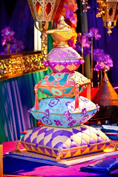 Sonal j shah event consultants llc over the top wedding for Arabian cake decoration