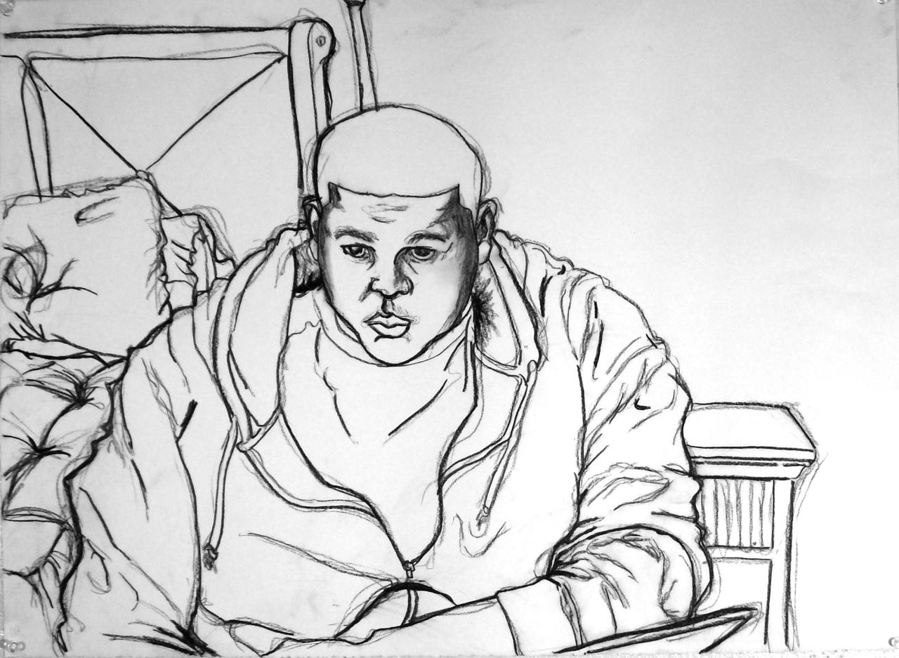 Contour Line Drawing Pdf : Basic drawing self portrait controlled contour