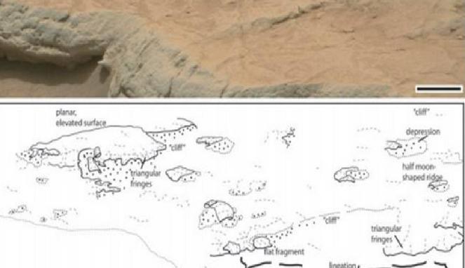 Ditemukan, Kehidupan yang Memfosil di Planet Mars