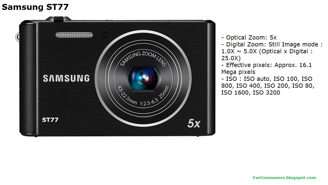 samsung st77 digital camera specifications test and review. Black Bedroom Furniture Sets. Home Design Ideas
