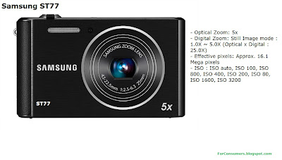 Samsung ST77 digital camera