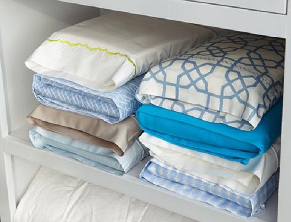 Cómo ordenar las sábanas en el armario