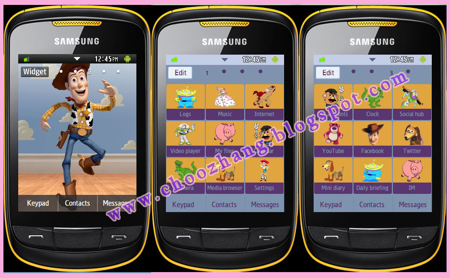 Samsung Corby 2 or S3850 - Toy Story Theme