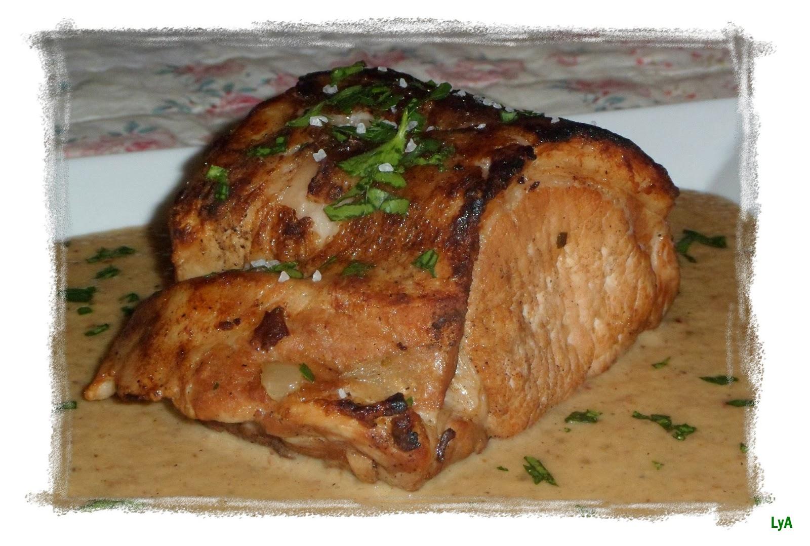 Cocinando un abril encantado carne encebollada y un - Solomillo de cerdo encebollado ...