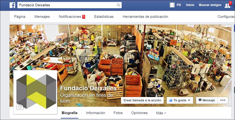 Segueix-mos a facebook