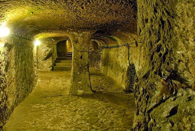 Reptile Underground City Derinkuyu in Cappadocia, Turkey